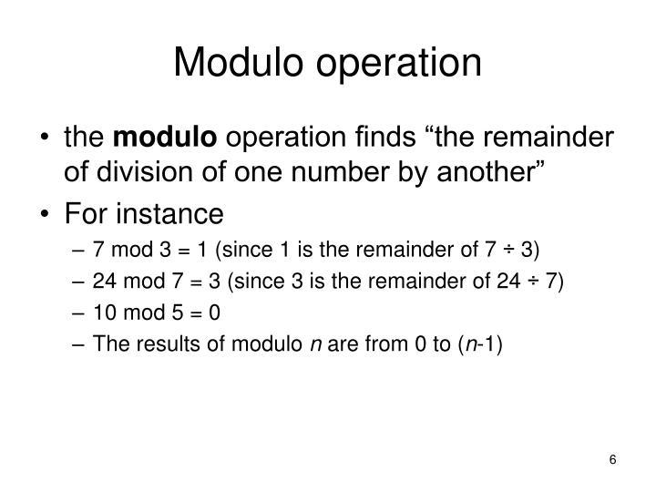 Modulo operation