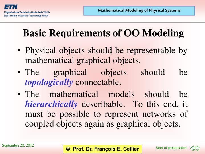 Physical objects should be representable by mathematical graphical objects.