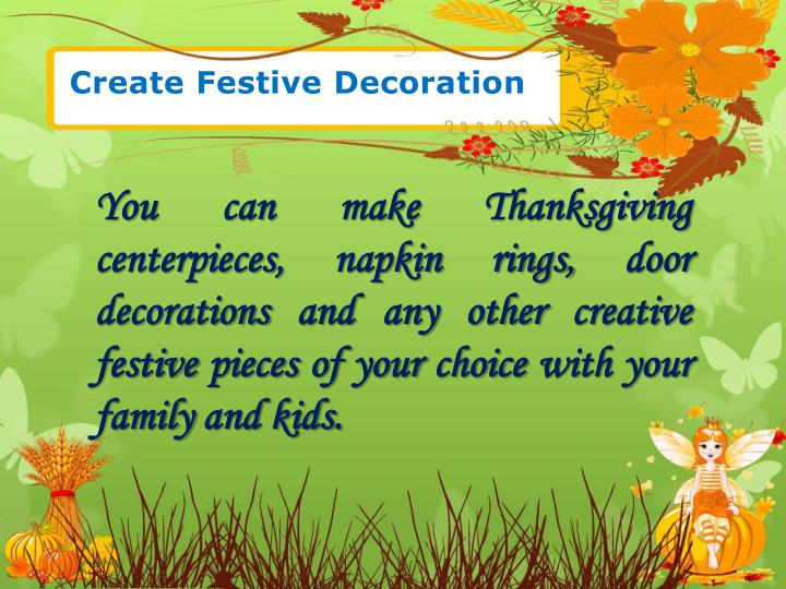 Create Festive Decoration