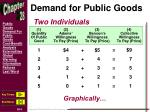 demand for public goods