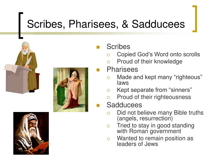 Scribes, Pharisees, & Sadducees