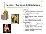 scribes pharisees sadducees