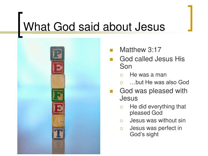 What God said about Jesus
