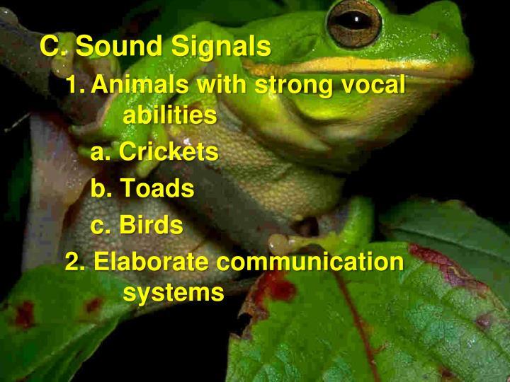 C. Sound Signals