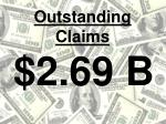outstanding claims