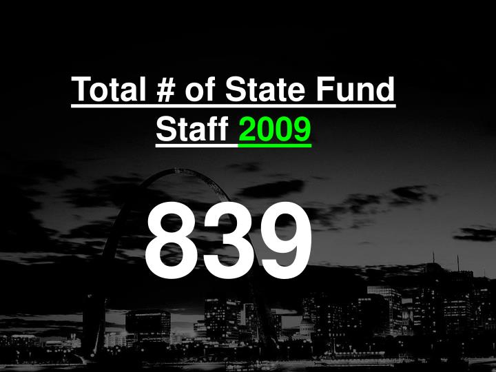 Total # of State Fund Staff