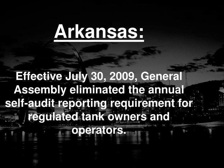 Arkansas: