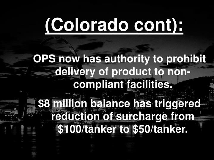 (Colorado cont):