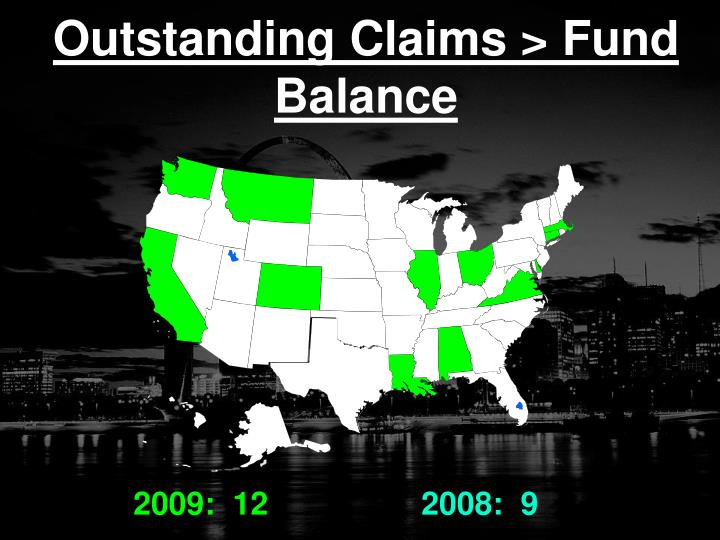 Outstanding Claims > Fund Balance
