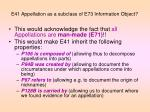 e41 appellation as a subclass of e73 information object