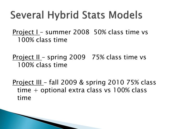 Several Hybrid Stats Models