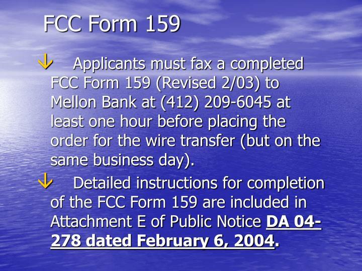 FCC Form 159