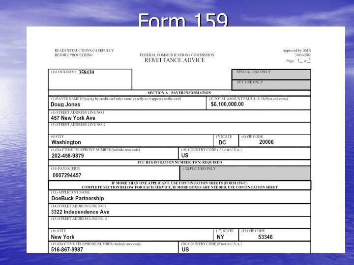 Form 159