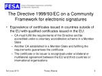 the directive 1999 93 ec on a community framework for electronic signatures6