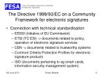 the directive 1999 93 ec on a community framework for electronic signatures8
