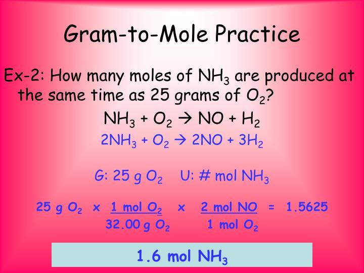 Gram-to-Mole Practice