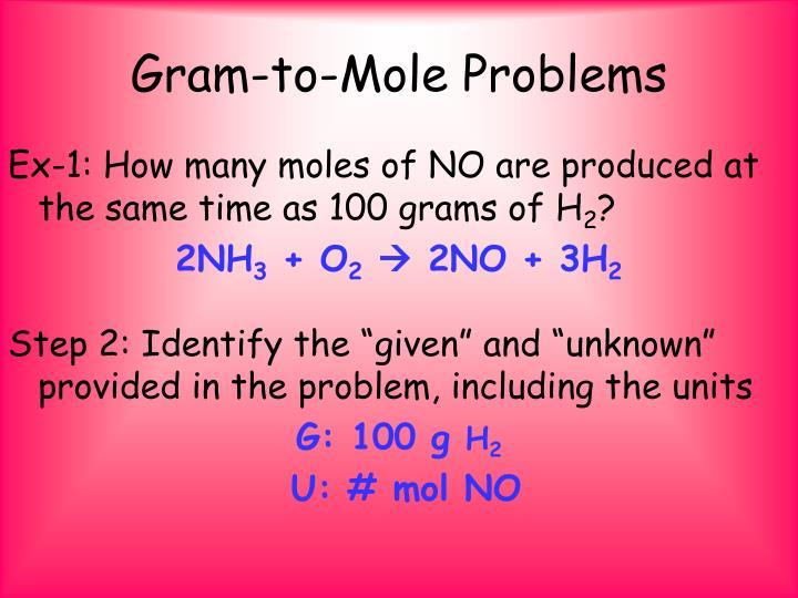 Gram-to-Mole Problems