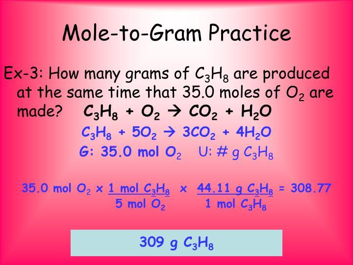 Mole-to-Gram Practice