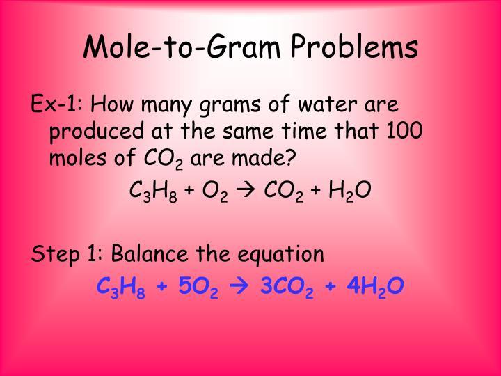 Mole-to-Gram Problems