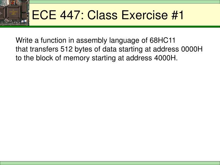 ECE 447: Class Exercise #1