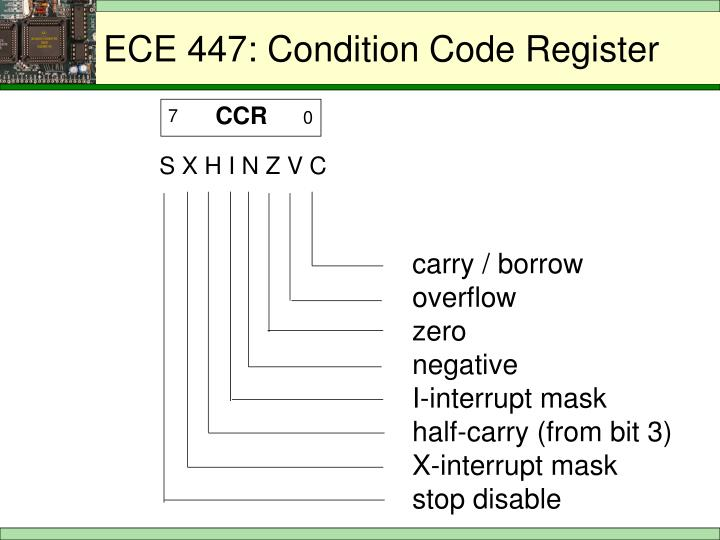 ECE 447: Condition Code Register