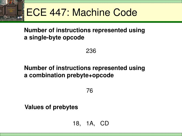 ECE 447: Machine Code