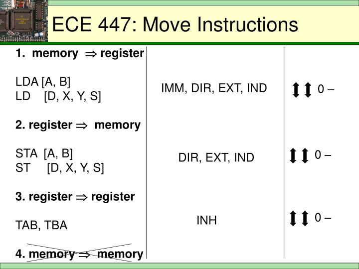 ECE 447: Move Instructions