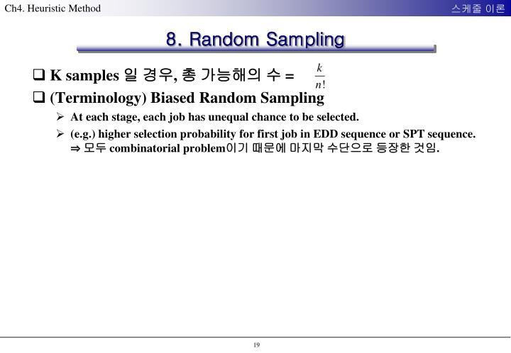 8. Random Sampling
