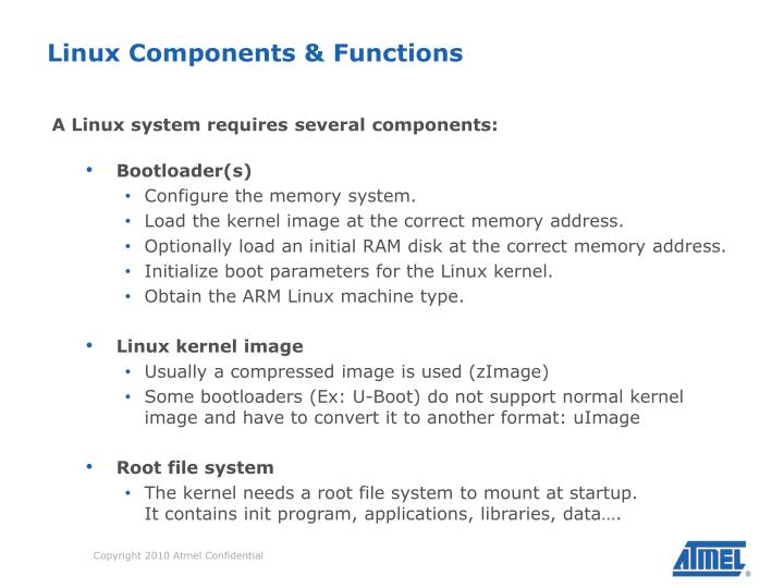 Linux Components & Functions