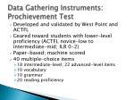 data gathering instruments prochievement test