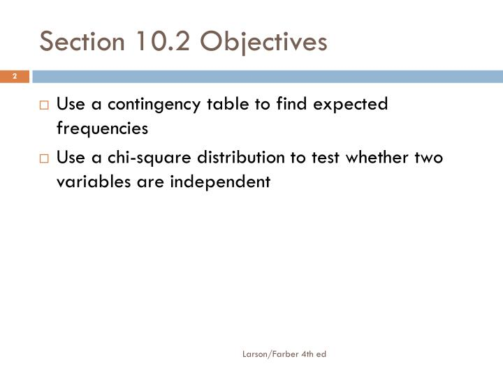 Section 10.2 Objectives