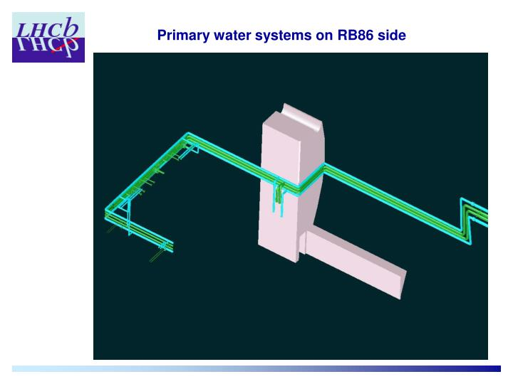 Primary water systems on RB86 side