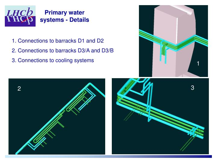 Primary water systems - Details