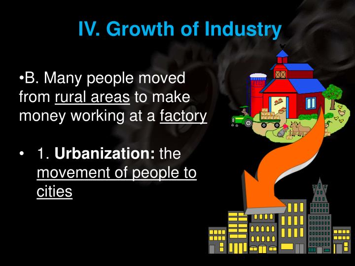 IV. Growth of Industry