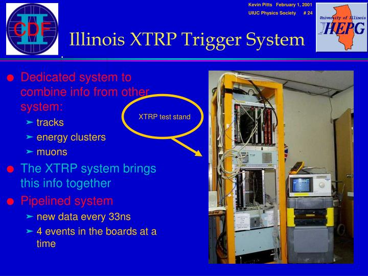 Illinois XTRP Trigger System