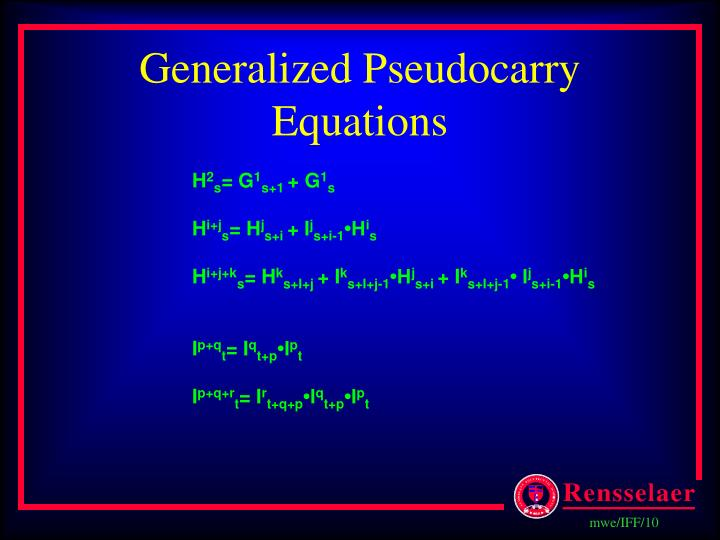 Generalized Pseudocarry Equations