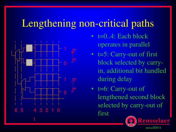 Lengthening non-critical paths
