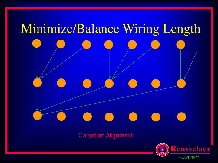 Minimize/Balance Wiring Length