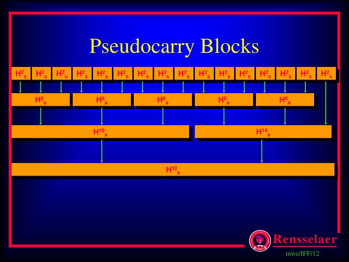 Pseudocarry Blocks