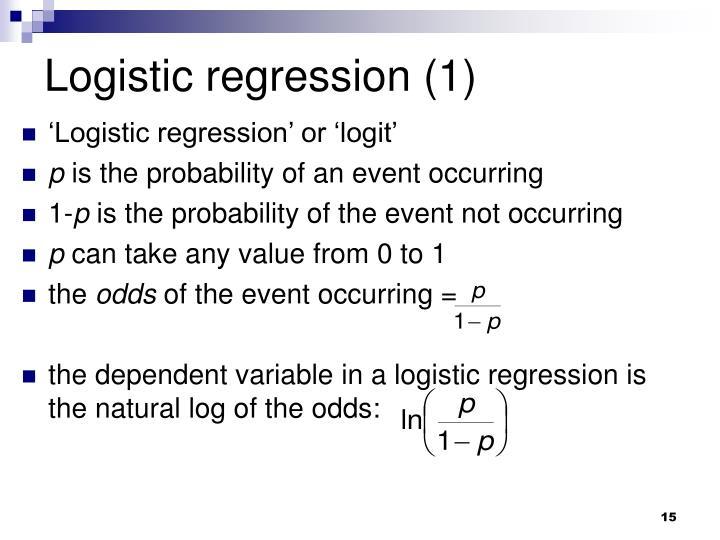 Logistic regression (1)