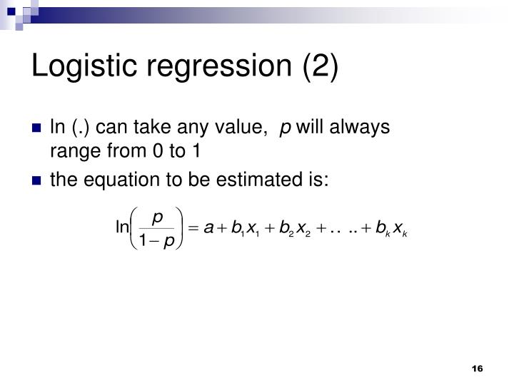 Logistic regression (2)