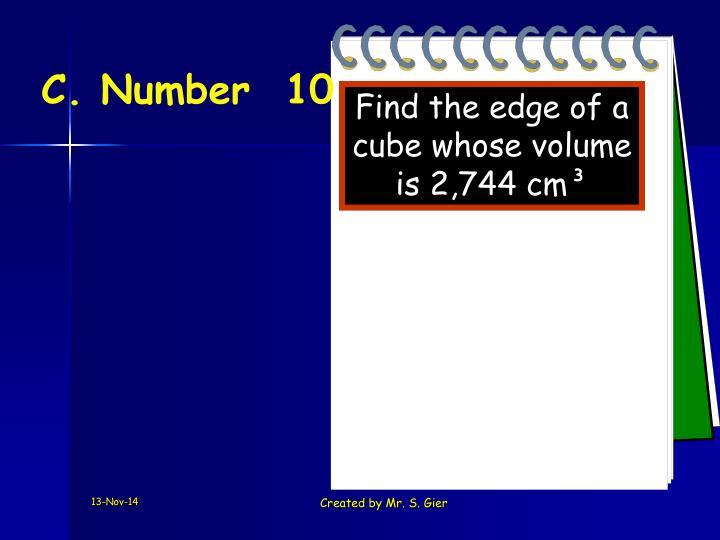C. Number  10