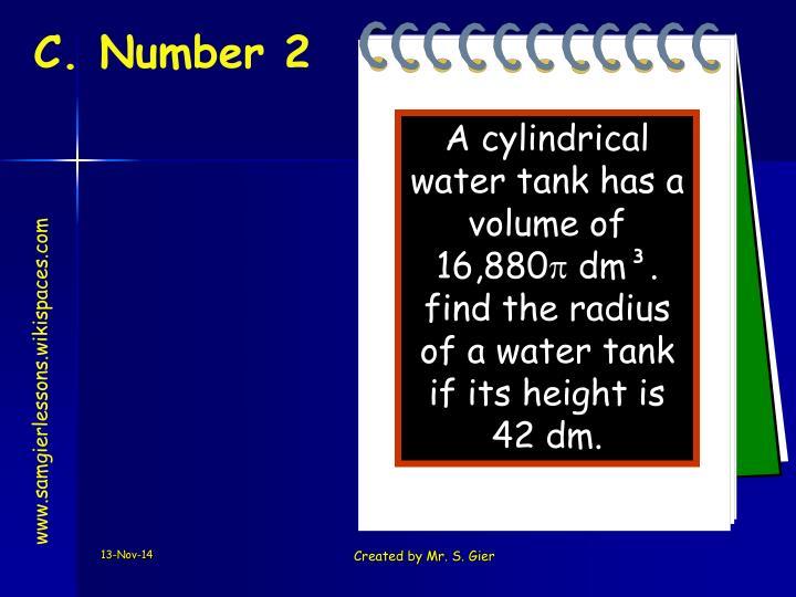 C. Number 2