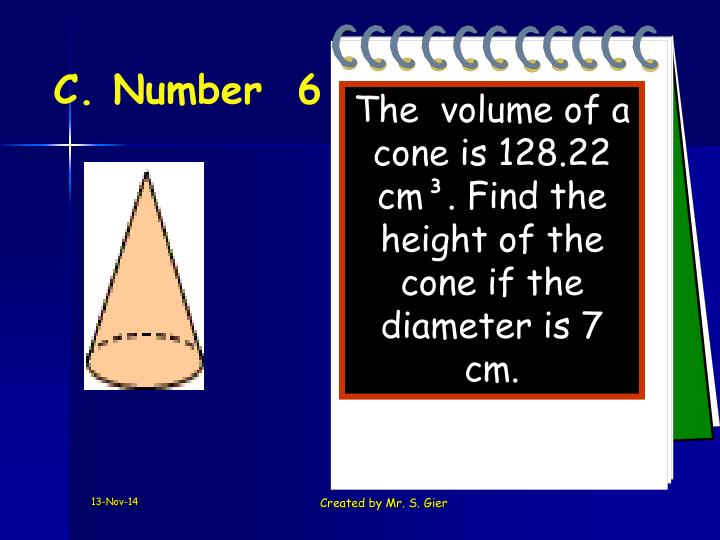 C. Number  6