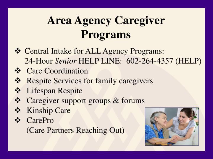 Area Agency Caregiver Programs