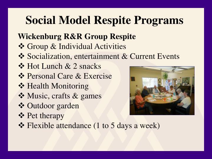 Social Model Respite Programs