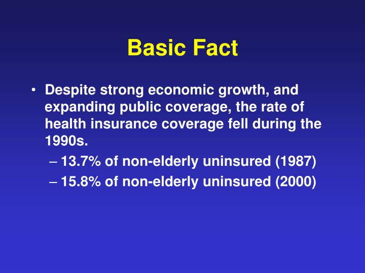 PPT - Explanations for the Decline in Health Insurance ...