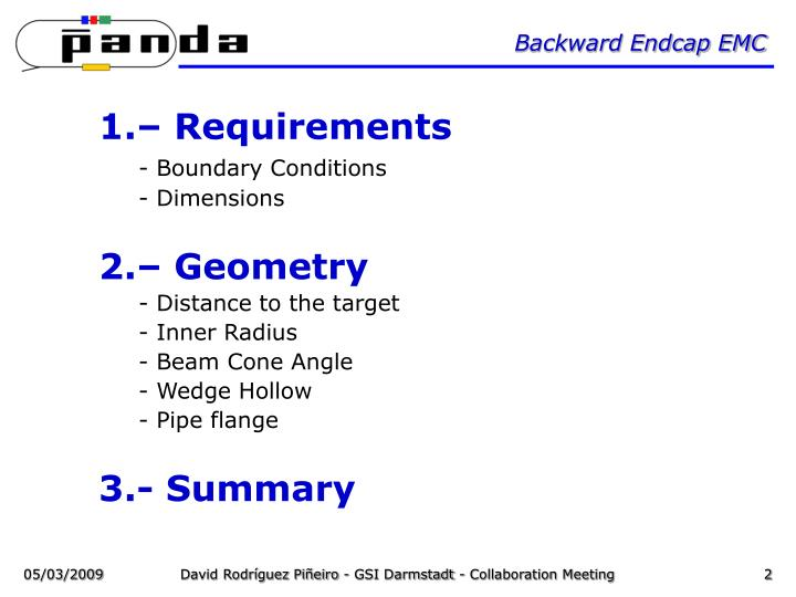 Backward Endcap EMC