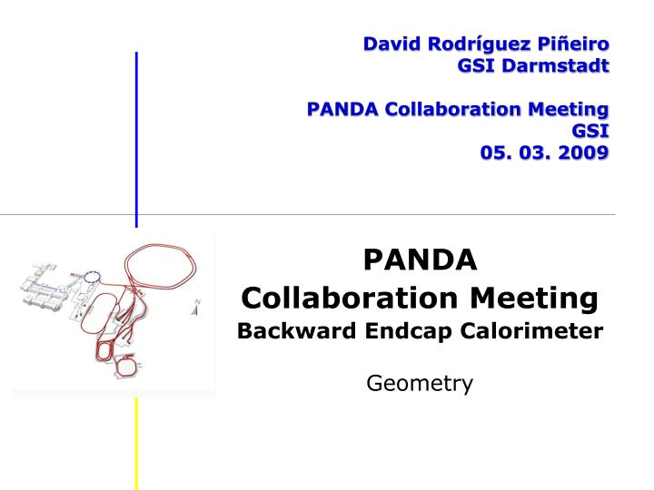 David rodr guez pi eiro gsi darmstadt panda collaboration meeting gsi 05 03 2009