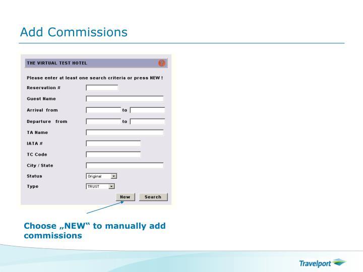 Add Commissions